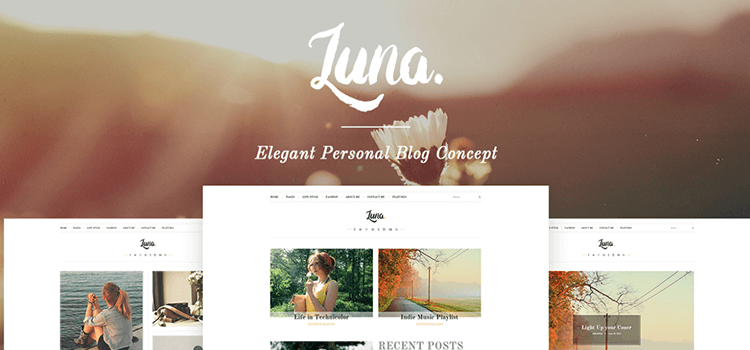 Luna Free Responsive HTML5 Website Template