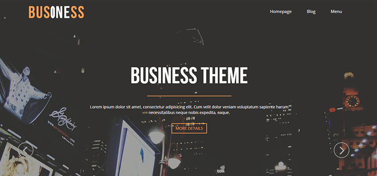 Business One one page web template