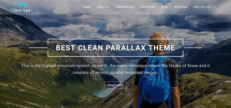 Himalayas one page web template