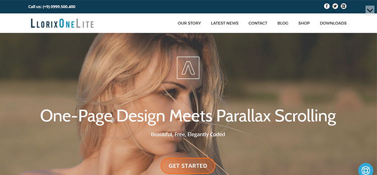 LlorixOneLite one page web template