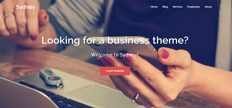 Sydney one page web template