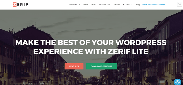 Zerif Lite one page web template