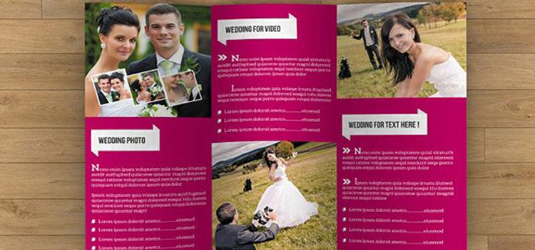 Trifold Brochure for Wedding-V07