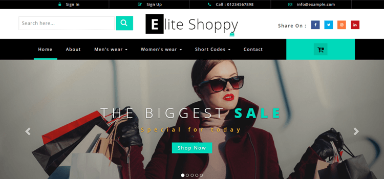 Elite Shoppy Fashion Template