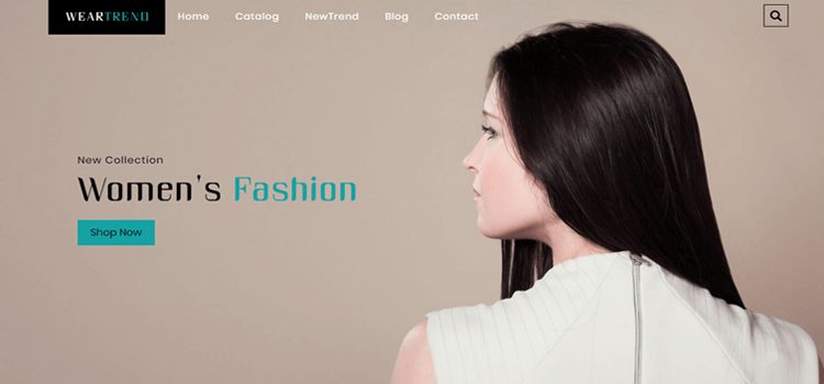 WearTrend Fashion Template
