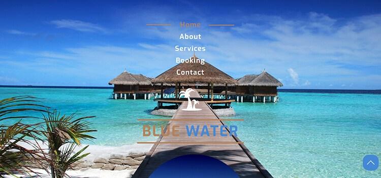 Blue Water Website Template
