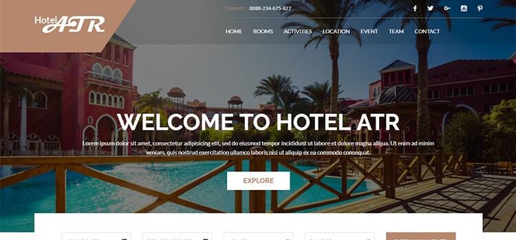 Hotel Atr Website Template