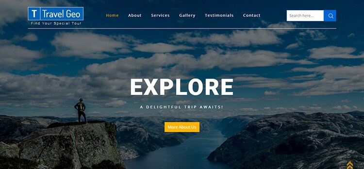 Travel Geo Website Template