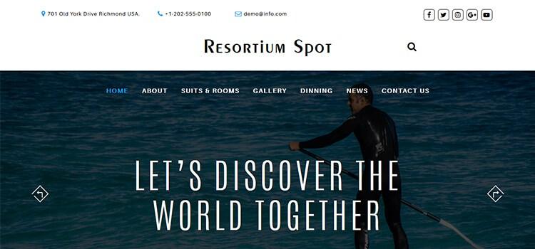 ResortiumSpot Website Template