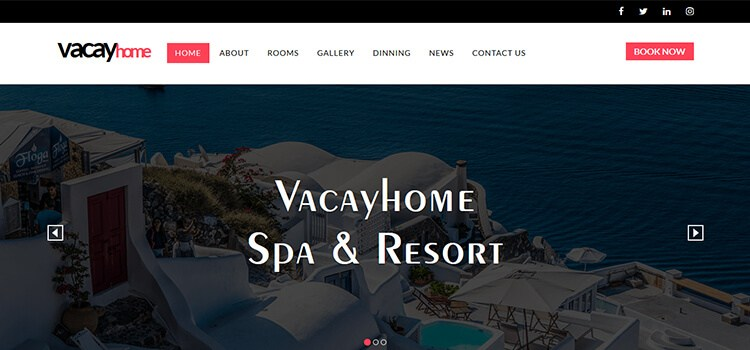 VacayHome Website Template